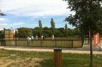 Création d'un terrain multisport à Claret