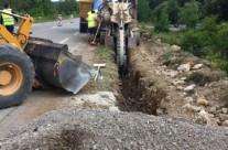 Remplacement d'une partie de la conduite d'adduction reliant Liouc à Corconne au lieu-dit Cauvessargues