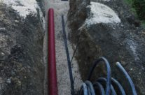 Réalisation d'un système d'assainissement des eaux usées à Mauressargues